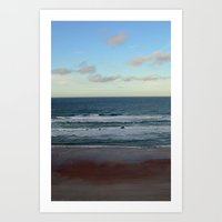 Evening by the Sea Art Print