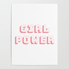 Girl Power Pink Feminism Poster