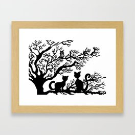 Cats on the tree Framed Art Print