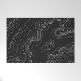Black & White Topography map Welcome Mat