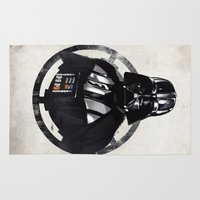 darth vader Area & Throw Rugs featuring Darth Vader by Yvan Quinet