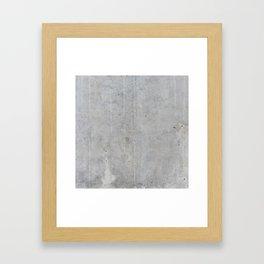 Concrete wall texture Framed Art Print