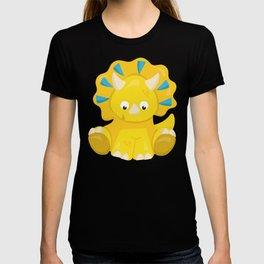 Cute Yellow Dinosaur, Baby Dino, Triceratops T-shirt