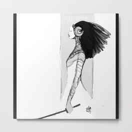 Swordgirl  Metal Print