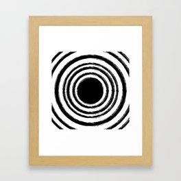 Painted Circles Framed Art Print