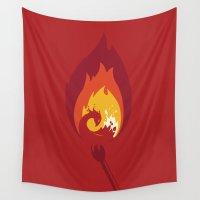 phoenix Wall Tapestries featuring Phoenix by Picomodi