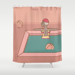 In the pool Shower Curtain