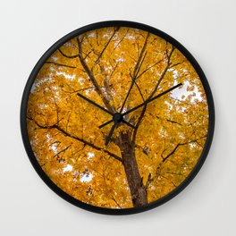 A Study in Yellow Wall Clock