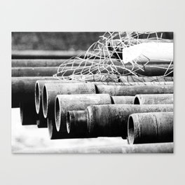 Pipes and Wire Canvas Print
