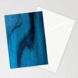 Beautiful Unique mahogany blue wood veneer design Stationery Cards