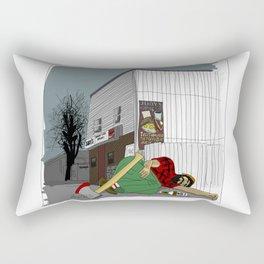 """I'm not wakin' him"" by a.correia Rectangular Pillow"