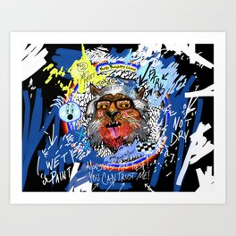 Gee The Party Wolf Remixed Art Print