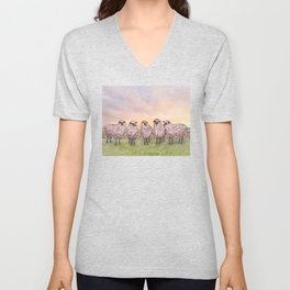 sunrise sheep Unisex V-Neck