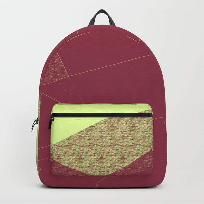 Autumn Red Burgundy Mountain Abstract Backpack