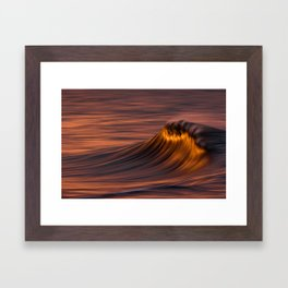 Flaming Wave Framed Art Print