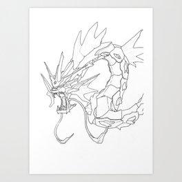Mechanical Gyarados Art Print