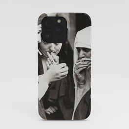 Nuns Smoking iPhone Case