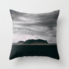 Dark Iceland Throw Pillow