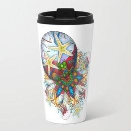 Marine Bubble Mandala Travel Mug