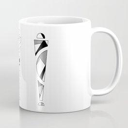 trio. art nouveau black / white mix fill Coffee Mug
