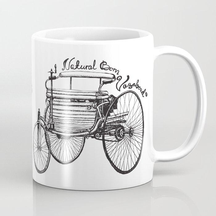 Vintage benz 1885   Natural Born Vagabond™  Coffee Mug