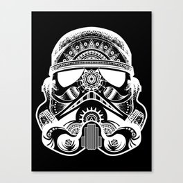 Mandala Stormtrooper - White. A loyal solider.  Canvas Print