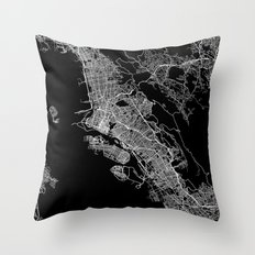 oakland map california Throw Pillow
