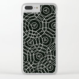 Random Rings Silver Clear iPhone Case