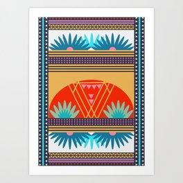 Multi Geometric Love Art Print