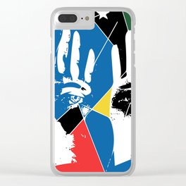 Mystic Hands Vintage Graphic Design Art Decoration Clear iPhone Case