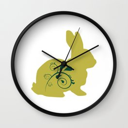Little Easter Bunny Wall Clock