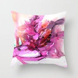 Organic Ecstasy No.55d by Kathy Morton Stanion Throw Pillow