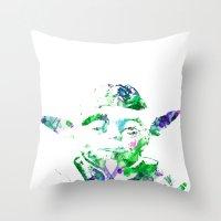 yoda Throw Pillows featuring Yoda by NKlein Design