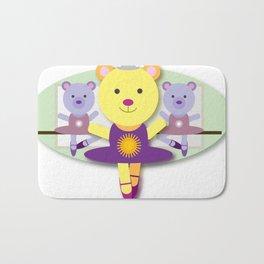 Ballerina Bear Cartoon Bath Mat