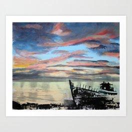 Akranes at Sunset, 2015 Art Print