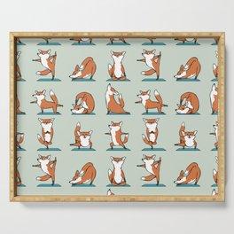 Fox Yoga Serving Tray