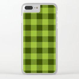 Buffalo Plaid: Green Clear iPhone Case