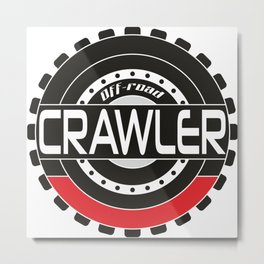 An offroad crawler wheel Metal Print