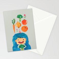 Broccoli Veggie Monster Stationery Cards