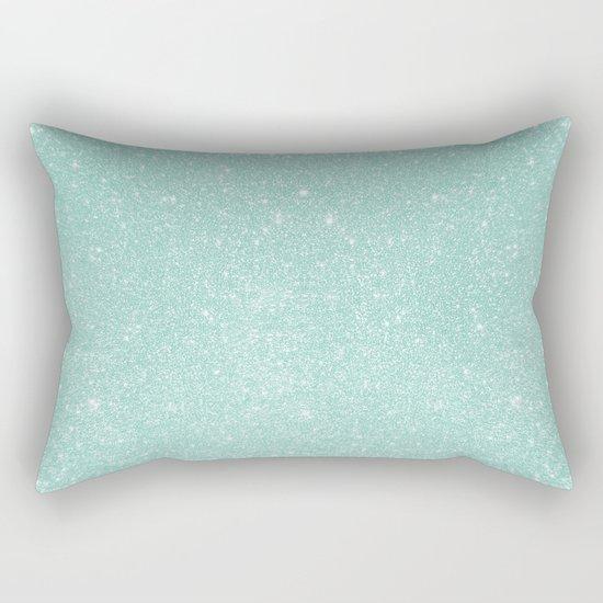 Pastel Turquoise Glitter Rectangular Pillow