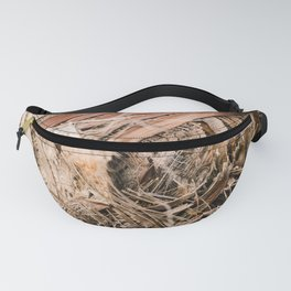 Palm texture detail | Botanical photography print | Natural tones Fanny Pack