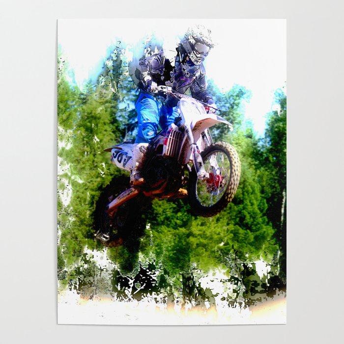 """Dare to Fly"" Motocross Racer Poster"