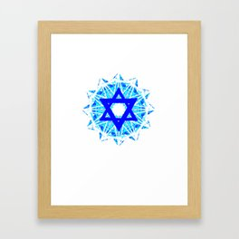 Jewish Star Framed Art Print