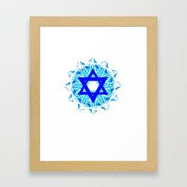 Jewish Star Framed Art Print