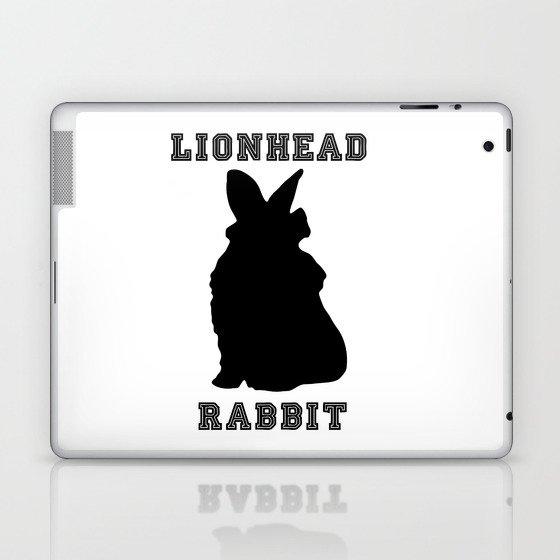 Lionhead Rabbit Silhouette Laptop & iPad Skin