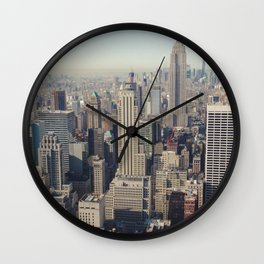 New York City / Aerial Wall Clock