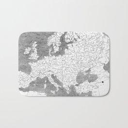 Vintage Map of Europe (1804) BW Bath Mat