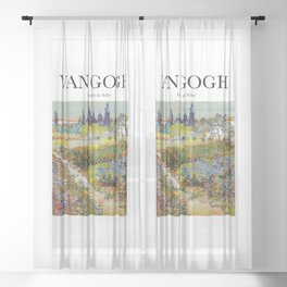 Van Gogh - Garden at Arles Sheer Curtain