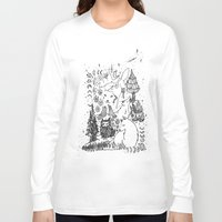 wolves Long Sleeve T-shirts featuring Wolves by Monique Turchan