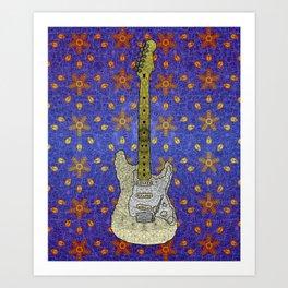 White Strat Art Print